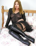 Rosamund Pike See Thru Lingerie Nude 001