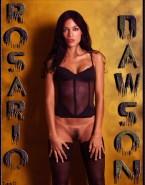 Rosario Dawson Lingerie No Panties Nude 001
