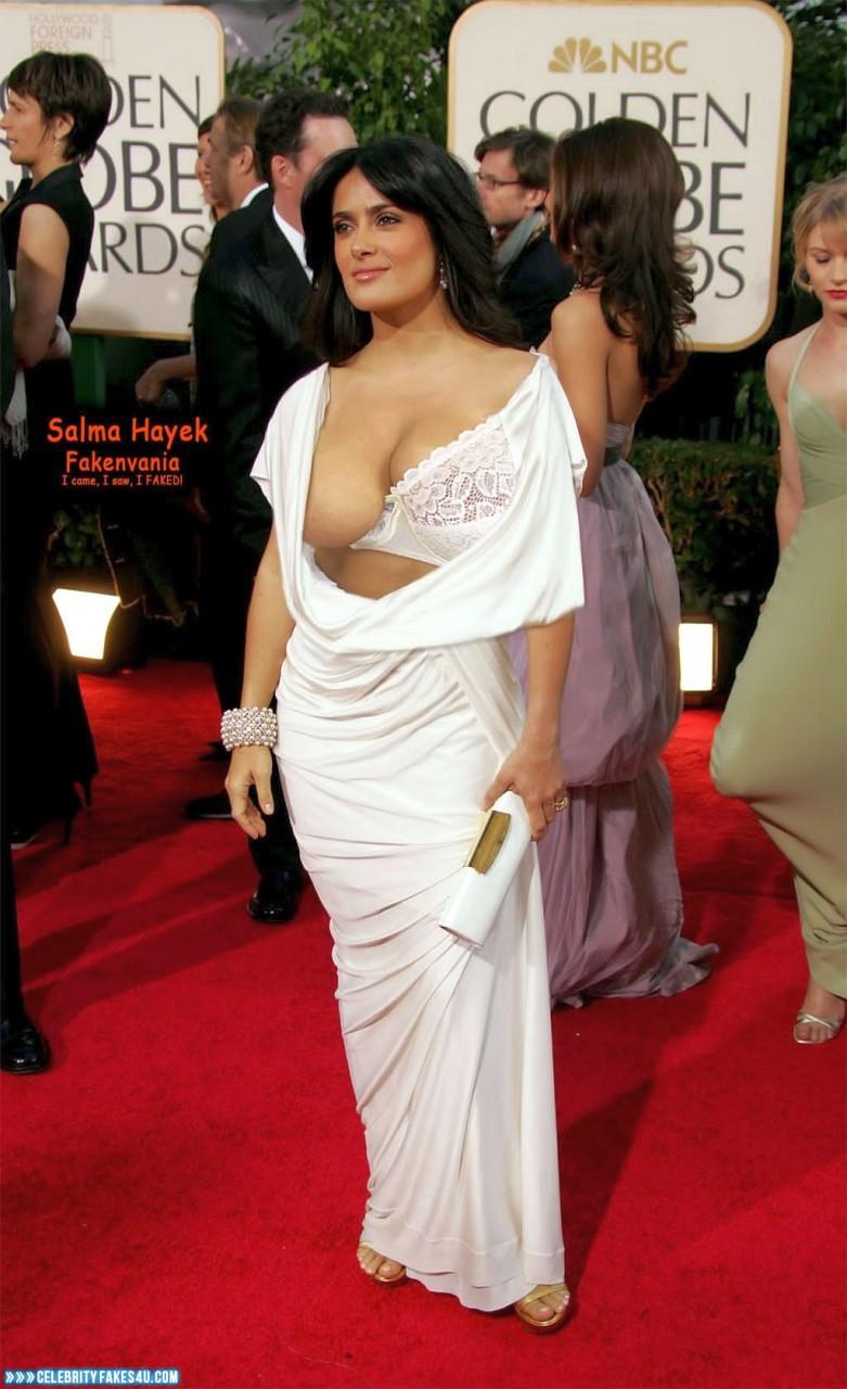 Salma Hayek Nip Slip Red Carpet Event 001 « Celebrity Fakes 4U