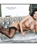Salma Hayek Stockings Tits Nudes 001
