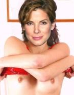 Sandra Bullock Undressing Small Boobs Fakes 001