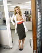Sarah Chalke Skirt Exposing Breasts 001
