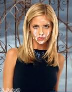 Sarah Michelle Gellar Cum Facial Buffy The Vampire Slayer Nude 001