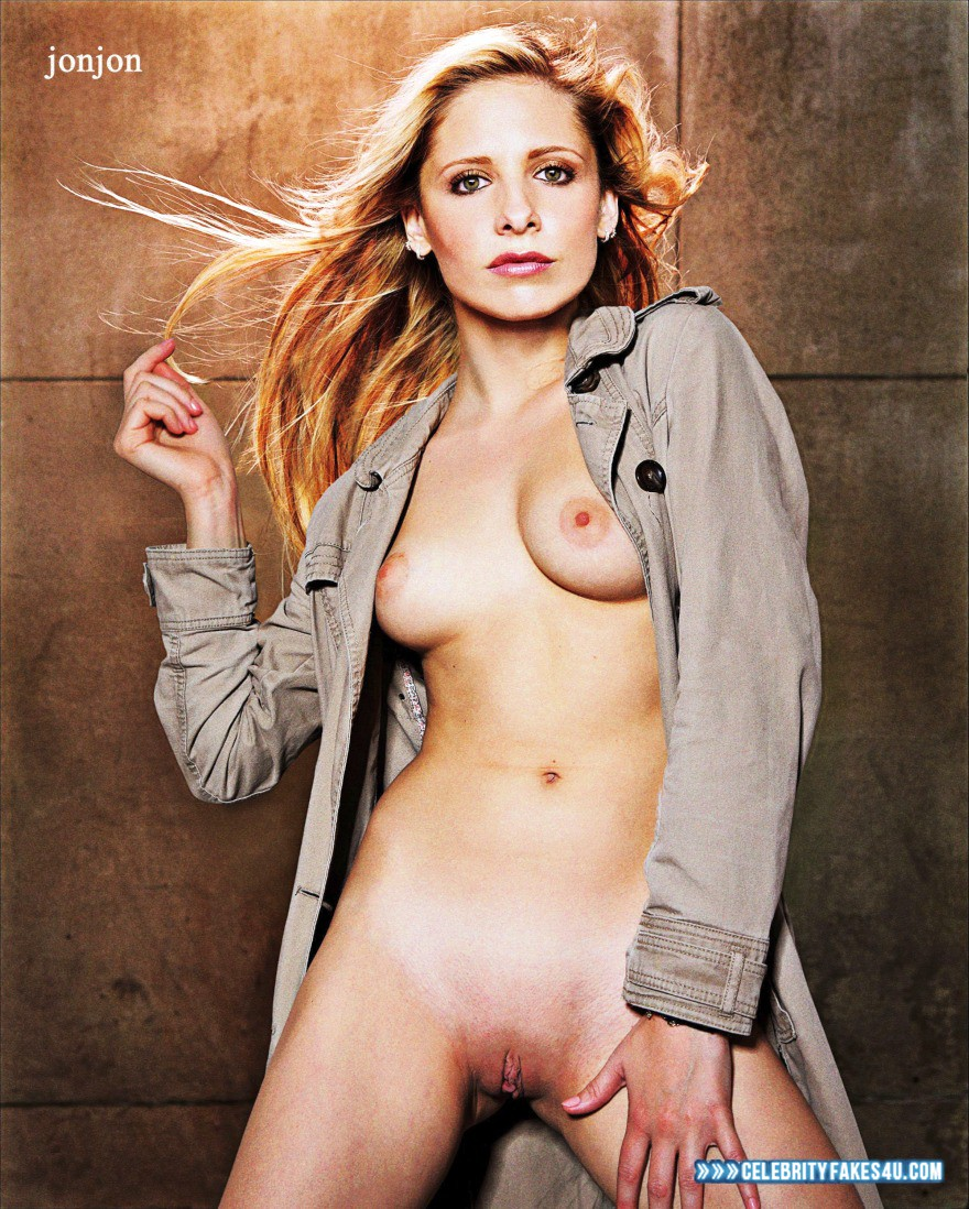 Sarah Michelle Gellar Fake, Naked Body, Nude, Pussy, Tits, Porn