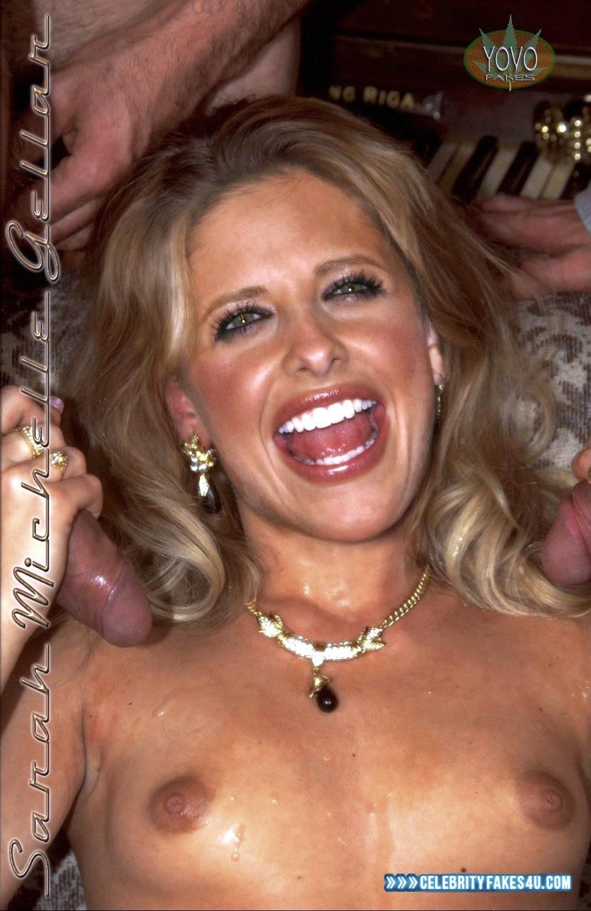 Sarah Michelle Gellar Fake, Handjob, Nude, Sex, Tits, Porn