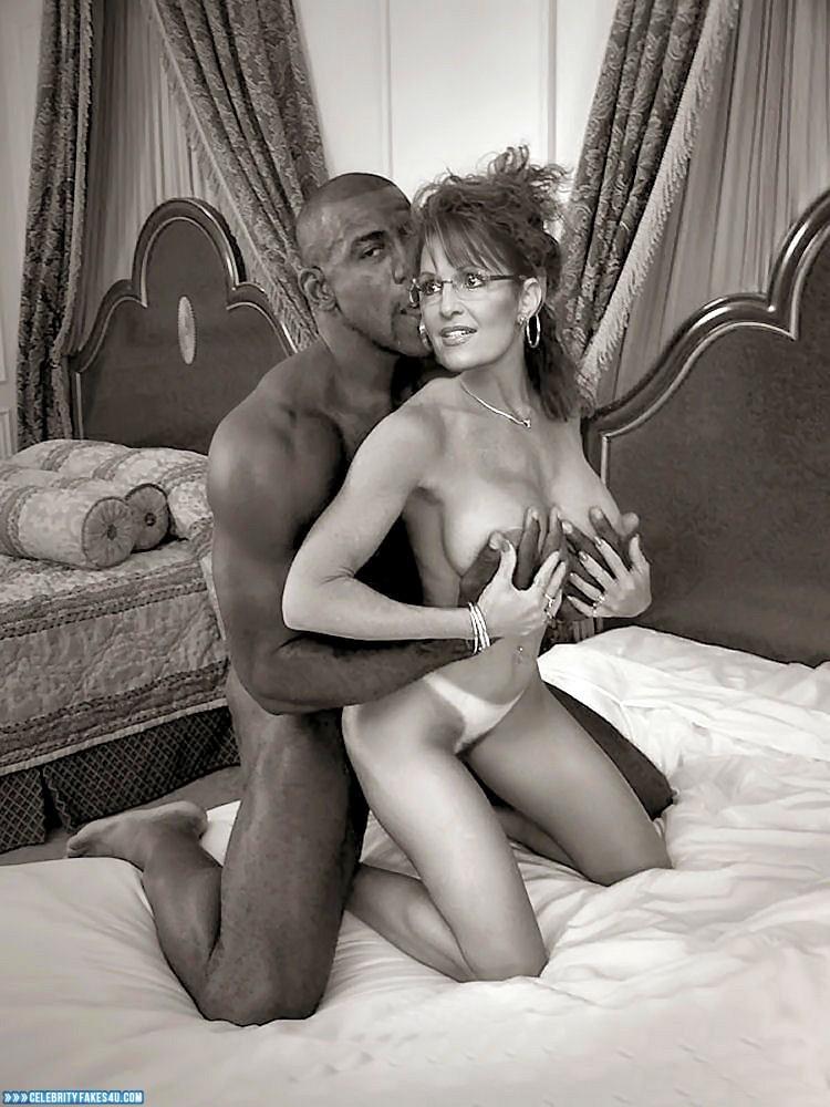 Sarah Palin Fake, Interracial Sex, Squeezing Breasts, Porn