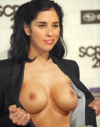 Sarah Silverman Shows Her Tits Red Carpet Naked 001