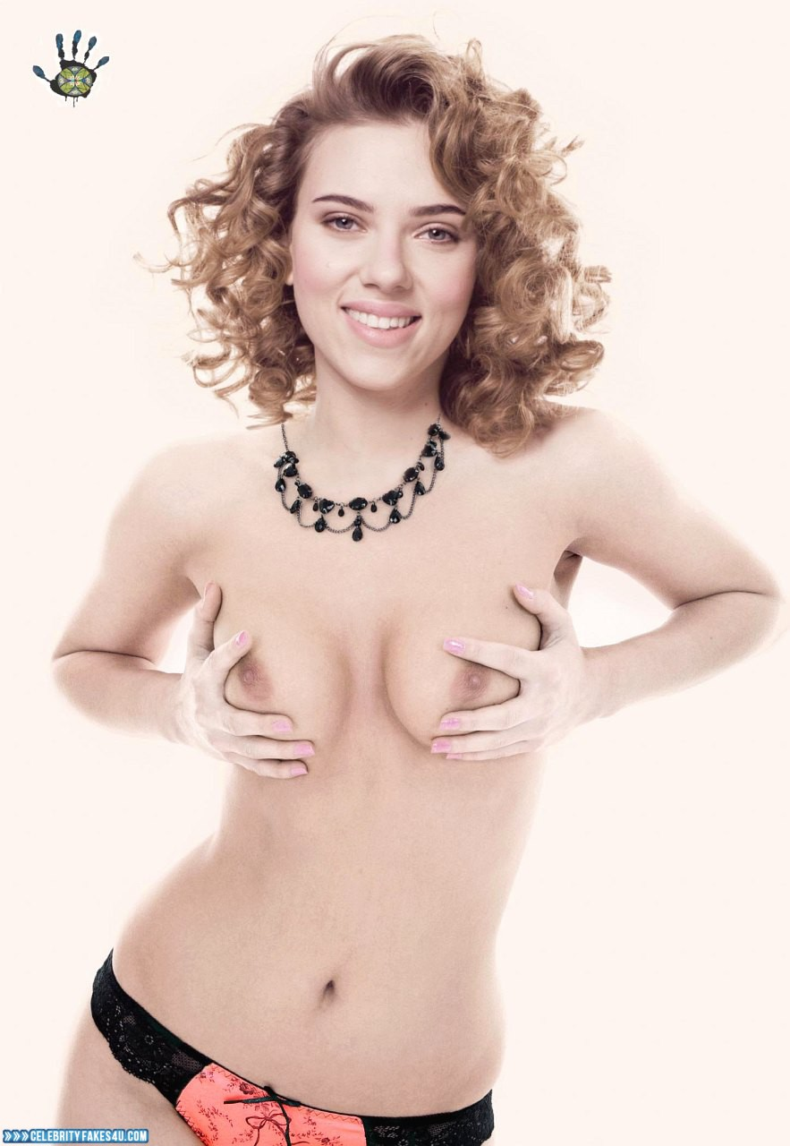 Scarlett Johansson Fake, Squeezing Breasts, Tits, Porn