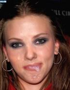 Scarlett Johansson Cumshot Facial Loves Drinking Cum Porn 001