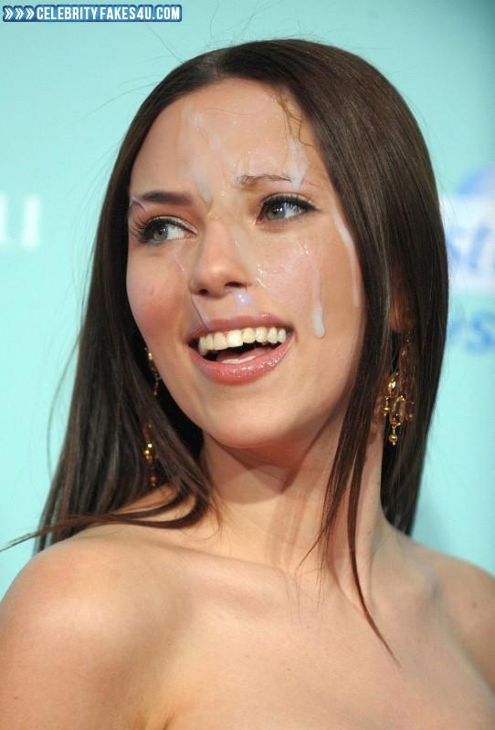 Scarlett Johansson Fake, Cum Facial, Cumshot, Porn