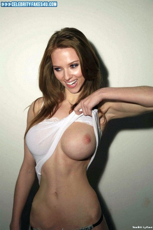 Scarlett Johansson Fake, Flashing Tits, Tits, Very Nice Tits, Porn
