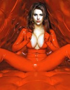 Scarlett Johansson Latex Boobs Squeezed 001