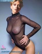 Scarlett Johansson See Thru Lingerie Porn 001