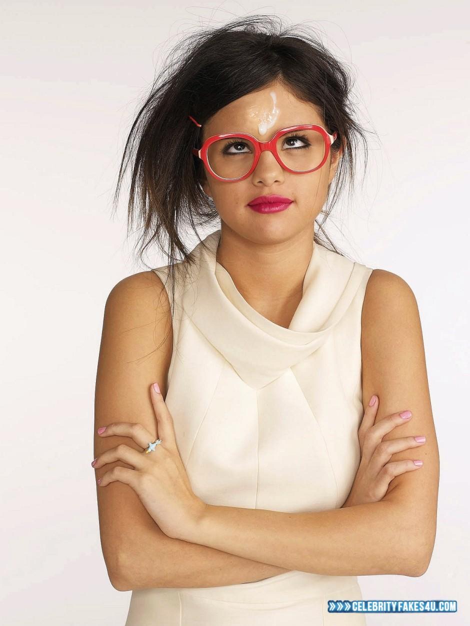 Selena Gomez Glasses Facial Cumshot Xxx Fake 001