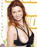 Shania Twain Boobs Exposed Red Carpet Event 001