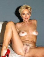 Sharon Stone Tits Flashes Pussy Opens Legs Wide Fakes 001