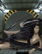 Sigourney Weaver Alien Boobs Exposed Nsfw Sex 001