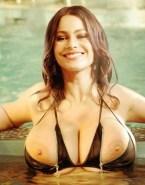 Sofia Vergara Wet Huge Breasts 001