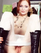 Sophie Turner Legs Spread Exposing Pussy Fake-011
