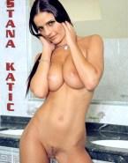 Stana Katic Naked Body Squeezing Tits Fake 001