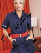 Tina Hobley Skirt Stockings Nude 001