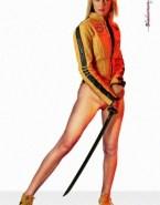 Uma Thurman Camel Toe Without Underwear Nudes 001