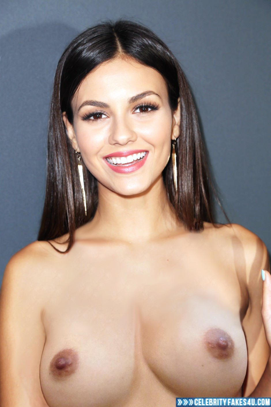 Victoria Justice Fake, Brunette Hair, Nude, Tits, Porn
