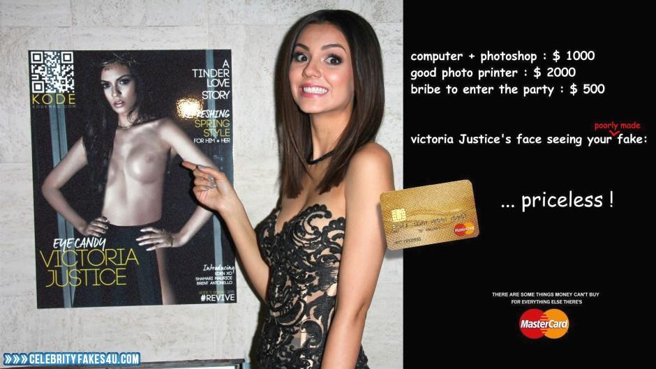 Victoria Justice Fake, Captioned, Magazine Cover, Nude, Tits, Porn