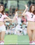 Younha Pantieless Public Naked 001