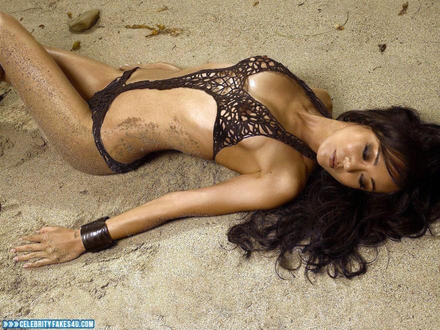 Yunjin Kim Fake, Beach, Naked Body, Nude, Outdoor, Tits, Porn