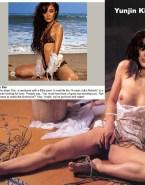 Yunjin Kim Breasts Touching Her Vagina Fake 001