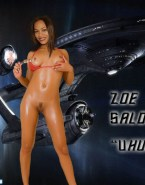 Zoe Saldana Nude Body Squeezing Tits 001
