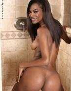Zoe Saldana Shower Sideboob Naked 001