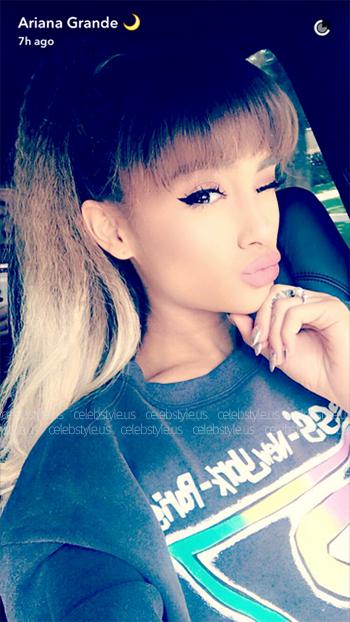 Vintage 80s/90s Guess ? New York/Paris Sweatshirt as seen on Ariana Grande Snapchat, August 2016.