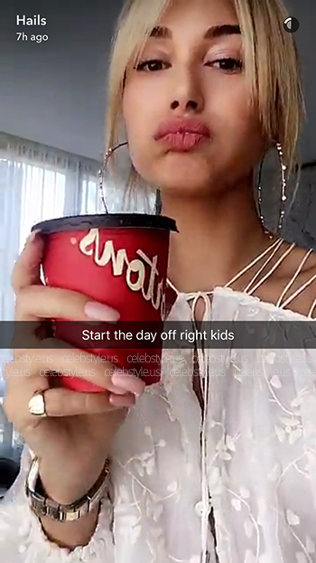 Seen on Hailey Baldwin Snapchat: Zimmermann Eden Laced Top in White