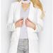 Misspap Scarlett White Tailored Blazer
