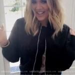 Khloe Kardashian Snapchat: Unravel Cropped Bomber Jacket