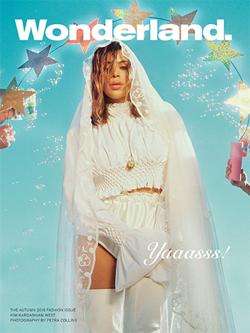 Kim Kardashian x Wonderland: Kenzo Waffle Textured Blouse