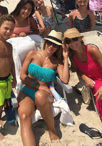 Melissa Gorga Instagram: L*Space Swimwear Fringe Bandeau Bikini