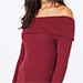 Miss Selfridge Burgundy Foldover Bardot Top