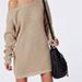 Missguided Off Shoulder Knitted Jumper Dress