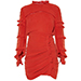 Isabel Marant Red Qods Ruched Dress