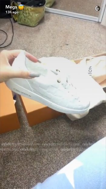 Megan McKenna Snapchat: Louis Vuitton Embossed Frontrow Sneakers