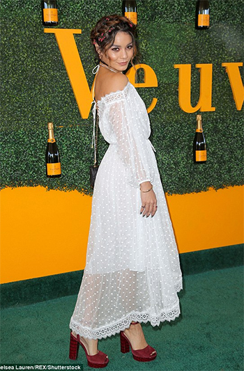 Vanessa Hudgens in Zimmermann dress at the  Veuve Clicquot Polo Classic October 15, 2016