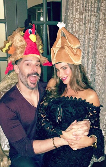 Sofia Vergara in Nicholas Botanical Lace Cocktail Dress on Thanksgiving — Instagram November 25, 2016