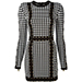 Balmain Checked Knit Dress