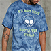 Forever 21 MEN tie dye graphic alien tee