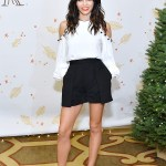 Jenna Dewan-Tatum in Alexis Erica Cold Shoulder Blouse at Baby2Baby Holiday Event 2016