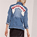 Missguided Graphic Denim Jacket