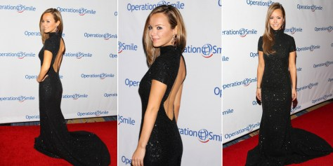 Nicole Lapin in Pamella Roland at Operation Smile Gala in New York City